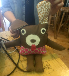 I teach sewing math with projects like the cute stuffed puppy