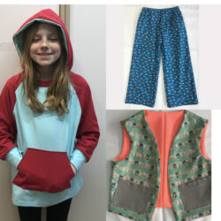 """Kids Clothing """"Lounge Around"""" – 3 Kids Sewing Projects"""