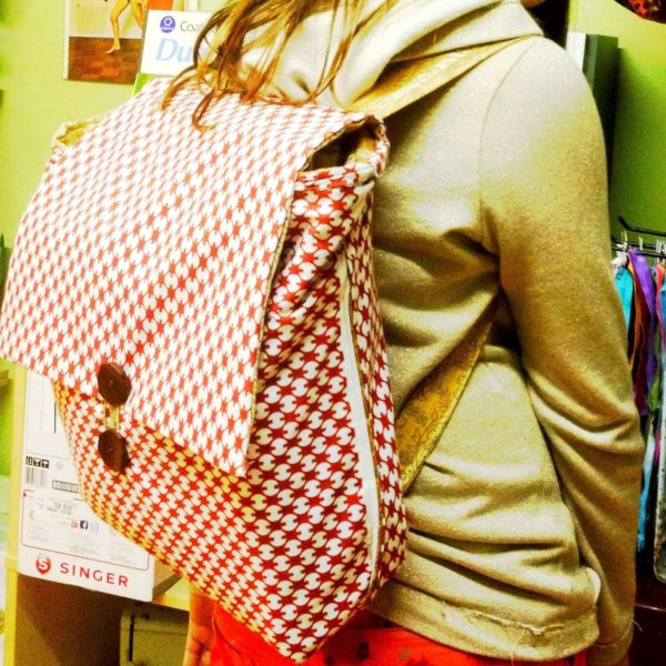 Button Flap Backpack